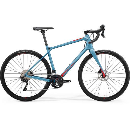 MERIDA kerékpár 2021 SILEX 4000 XL(56) MATT ACÉLKÉK (FÉNYES PIROS)