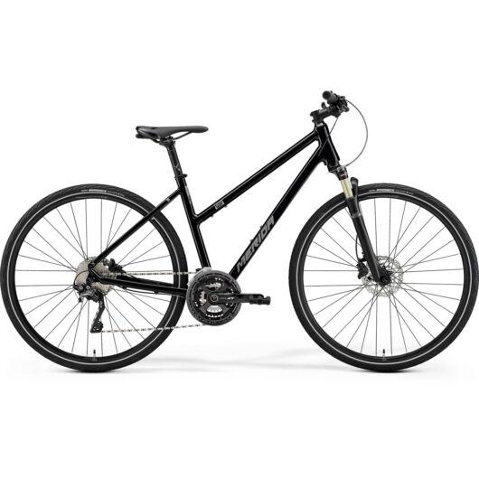 MERIDA kerékpár 2021 CROSSWAY XT-EDITION NŐI M(51L) FÉNYES FEKETE (MATT EZÜST)