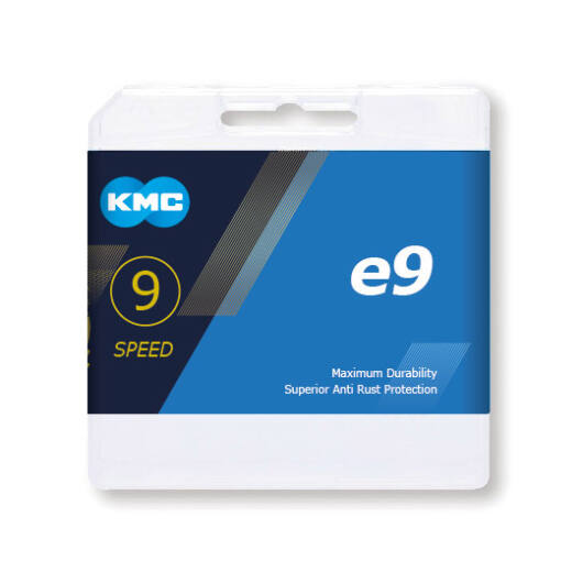 Lánc KMC E9 9 speed e-bike 1/2 x 11/128 136L silver