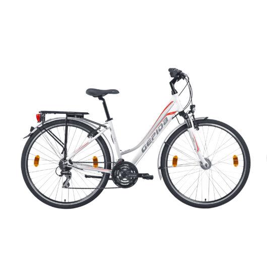 Gepida ALBOIN  300 28'' Női Trekking Kerékpár 2020 Gyöngyfehér 30200 3 36-44A