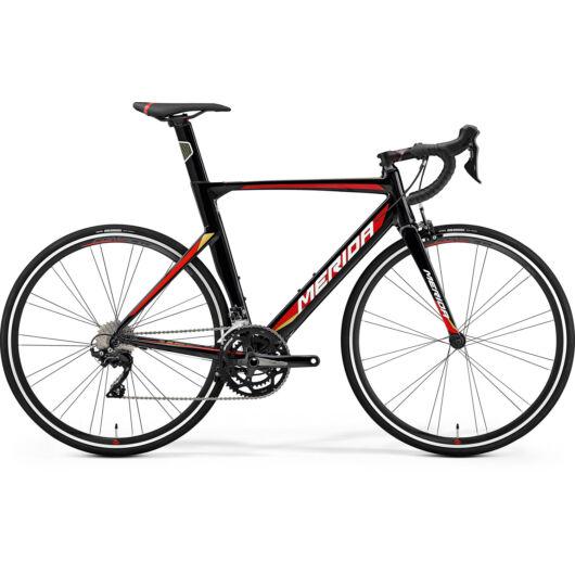 """87025-19 Merida REACTO 400 28"""" férfi országúti kerékpár 2019 bahrain team replika (fekete)"""