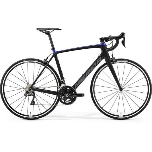 """87508-19 Merida SCULTURA 7000-E 28"""" férfi országúti kerékpár 2019  matt fekete(kék/ezüst)"""