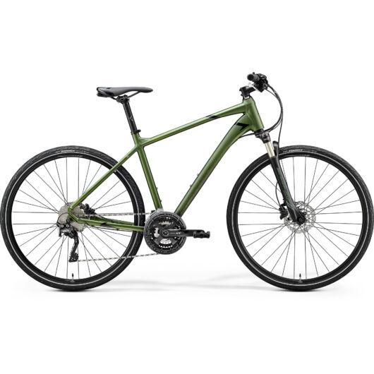 """35070-20 Merida crossway XT-ED 28"""" férfi cross trekking kerékpár 2020 mohazöld(fényes zöld/fekete)"""