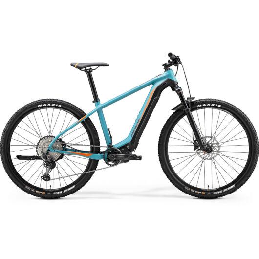 """26934-20 Merida eBIG. NINE 500 29"""" férfi pedelec kerékpár 2020 matt kékeszöld/fekete(narancs)"""