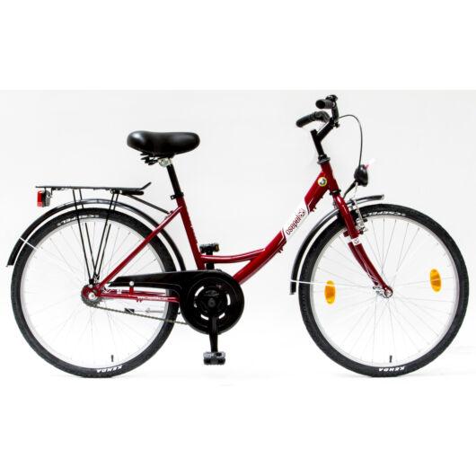 """Schwinn Csepel BUDAPEST A 24"""" 1 Sebességes Női városi kerékpár 2017 piros 93700001RD"""