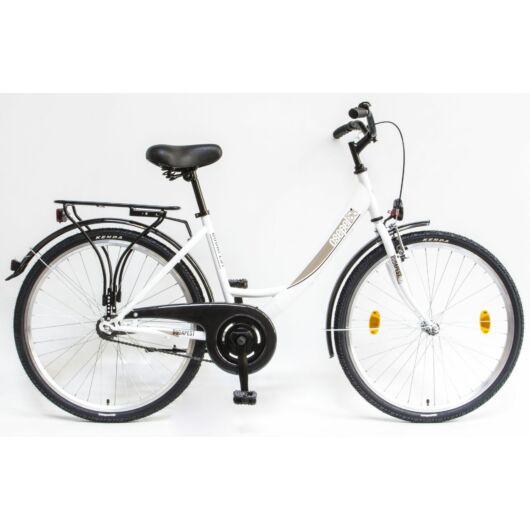"""Schwinn Csepel BUDAPEST A 26"""" 1 Sebességes Női városi kerékpár 2020 fehér 94000101WH"""