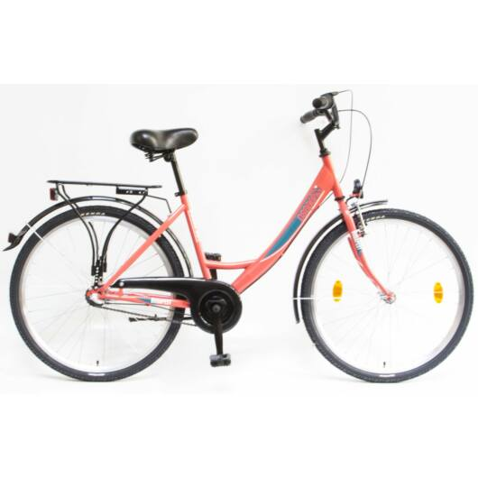 """Schwinn Csepel BUDAPEST A 26"""" 3 Sebességes Női városi kerékpár 2020 korall 94000103KO"""