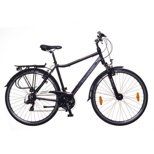 """Neuzer Ravenna 100 28"""" 21 sebességes Férfi Trekking kerékpár 2020 Fekete/bordó 21"""""""